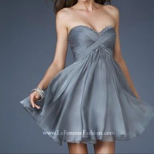 Navy Blue La Femme Prom/Homecoming Dress - Short